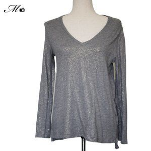 A New Day Gold Glitter Grey Long Sleeve - SZ Med